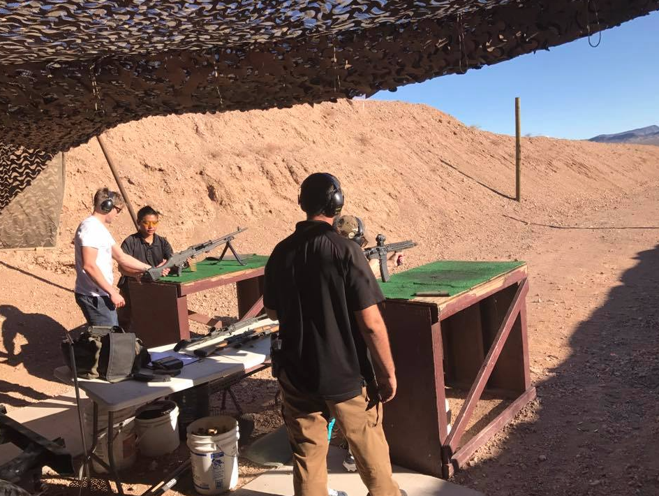 Shooting Las Vegas Gun Range