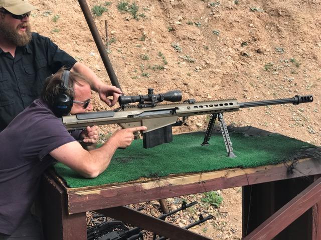 Barrett .50 Cal Sniper Shooting