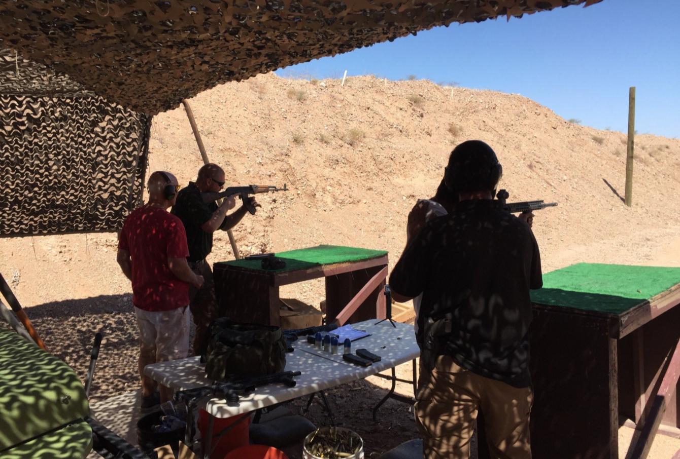 Las Vegas Gun Range Shooting