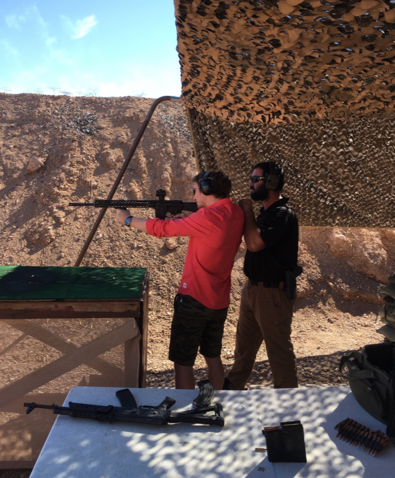 M4 Machine Gun Shooting
